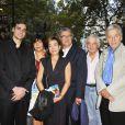 Valentin Livi, Carole Amiel, Serge Toubiana et Costa-Gavras lors de la présentation du Sauvage à la Cinémathèque de Paris le 26 septembre 2011