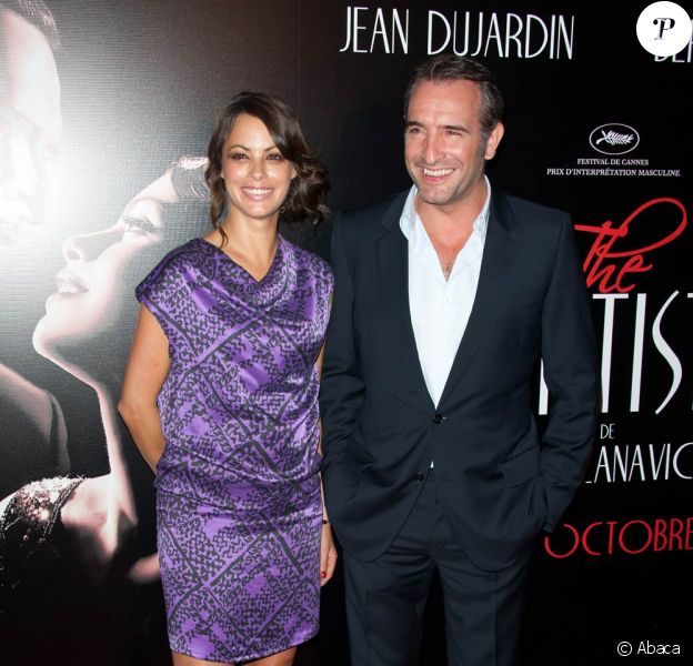 Bérénice Bejo et Jean Dujardin lors de la projection de The Artist, au Grand Rex, à Paris. 28 septembre 2011