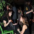 Elodie Bouchez et Bambou lors de la soirée organisée au Derrière, à Paris, le vendredi 30 septembre 2011.