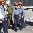 La princesse Marie de Danemark, même enceinte, participait samedi 1er octobre à des exercices de la DEMA, l'agence danoise de gestion des urgences, à Tinglev, dans le Sud du pays.