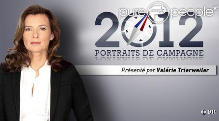 Valérie Trierweiler arrête l'émission 2012, portrait de campagne sur Direct 8