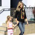 La maman stylée Heidi Klum a emmené ses enfants faire un peu de sport cette semaine. Brentwood, le 1er octobre 2011.