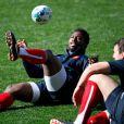 Fulgence Ouedraogo et Louis Picamolès le 6 octobre 2011 lors d'un entraînement de l'équipe de France à Auckland