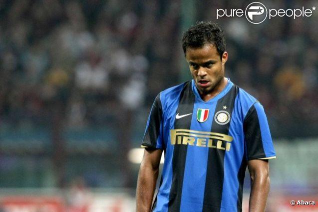 Mancini sous le maillot de l'Inter Milan le 24 septembre 2008