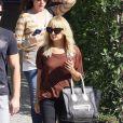 Nicole Richie dans les rues de Los Angeles à la sortie d'un salon de manucure. Le 11 octobre 2011