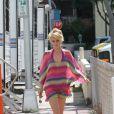 La belle blonde Rachel Taylor lors du tournage de Charlie's Angels à Miami, le 11 octobre 2011