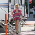 Rachel Taylor lors du tournage de Charlie's Angels à Miami, le 11 octobre 2011