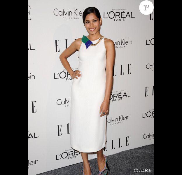 Freida Pinto au gala annuel des Elle Women in Hollywood Tribute, à Los Angeles, le 17 octobre 2011