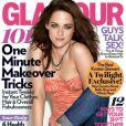 """Le dernier numéro de Glamour, avec Kristen Stewart """"amputée"""" d'un bras."""