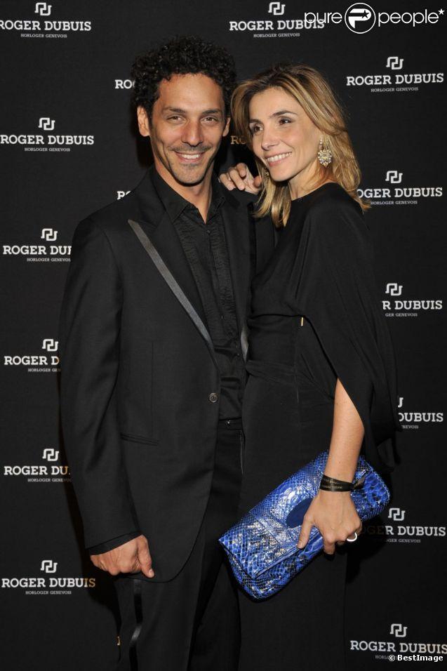 Tomer Sisley et Clotilde Courau lors de la soirée monégasque de l'Horloger suisse Roger Dubuis. 20 octobre 2011