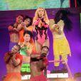 Britney Spears interprète  How I roll  à l'Arena de Montpellier, le vendredi 21 octobre 2011.