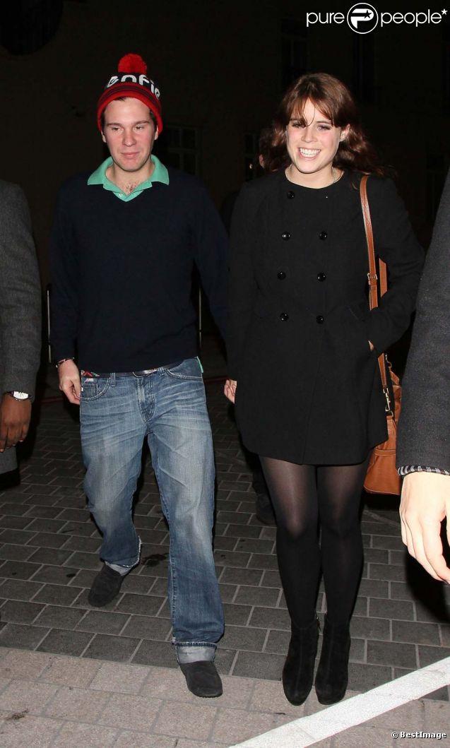 Eugenie d'York et son boyfriend Jack Brooksbank, à Londres, le 22 octobre 2011.