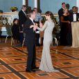 Le prince Frederik et la princesse Mary de Danemark ont fait honneur au bal donné au Hilton de New York en l'honneur du 100e anniversaire de la Fondation Américano-Scandinave, le 21 octobre 2011.