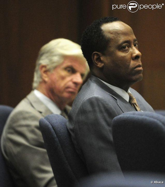 Lors du procès de Conrad Murray à Los Angeles le 24 octobre 2011 - ici Conrad Murray
