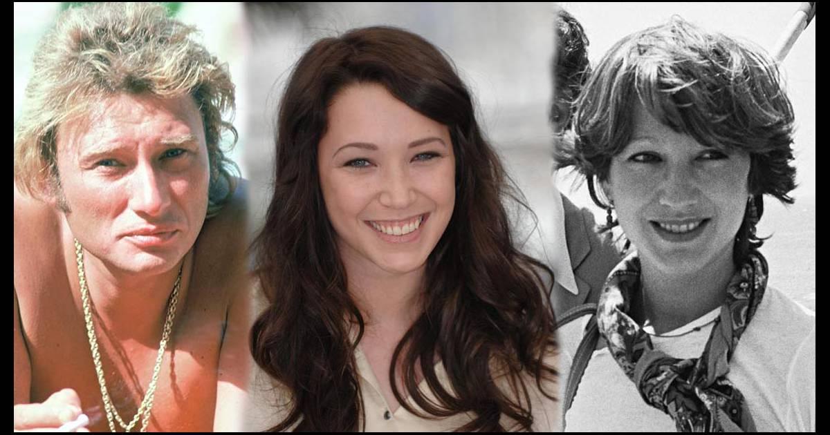Johnny Hallyday, Laura Smet et Nathalie Baye.