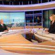 """""""Dominique Strauss-Kahn sur le plateau de Claire Chazal, sur TF1, le 19 septembre 2011. """""""