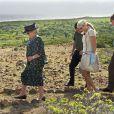 Visite du Parc National Arikrok le 29 octobre 2011, à Aruba.   La reine Beatrix, le prince Willem-Alexander et la princesse Maxima des Pays-Bas sont en visite dans les ex-Antilles néerlandaises du 28 octobre au 6 novembre 2011.