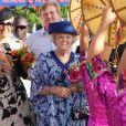 Les royaux néerlandais arrivent à Linear Park, Oranjestad, Aruba, pour le festival Fiesta Popular, le 28 octobre 2011.