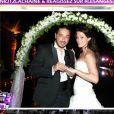 La photo de mariage de Moundir dans les Anges de la télé-réalité, le mag, lundi 31 octobre 2011 sur NRJ 12