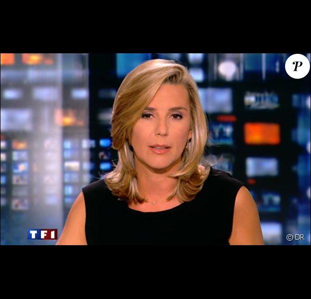 Laurence Ferrari sur le plateau du JT de 20 heures de TF1.
