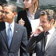 Nicolas Sarkozy et Barack Obama, en juillet 2009 en Italie.