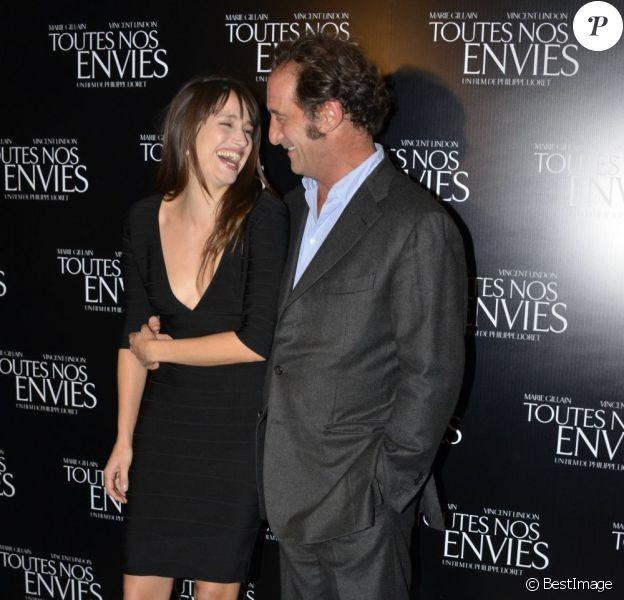 Marie Gillain et Vincent Lindon lors de l'avant-première de Toutes nos envies, le 7 novembre 2011.