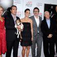 Bérénice Bejo, Jean Dujardin, Michel Hazanavicius, Penelope Ann Miller, Malcolm McDowell et James Cromwell lors de  l'avant-première de The Artist, lors du Festival AFI Fest 2011, à Los  Angeles, le 8 novembre 2011