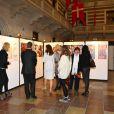 La princesse Mary de Danemark à la mairie de Copenhague le 9 novembre 2011 pour l'inauguration d'une exposition sur le 7-miliiardième être humain de la Terre sous l'égide du Fonds Démographique des Nations-Unies.
