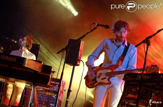 Le duo français AIR, au Paléo festival de Nyon, le 28 juillet 2007.
