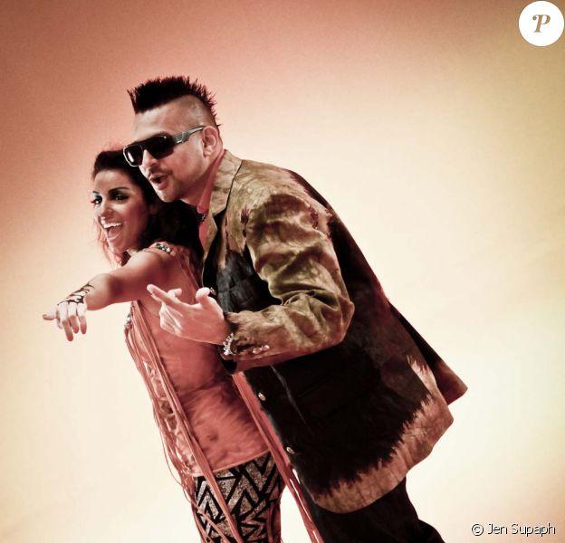 TAL et Sean Paul sur le tournage du clip Waya Waya, 2011.
