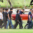 Diego Maradona lors de l'enterrement de sa maman Dalma Franco décédée à l'âge de 82 ans, le 21 novembre 2011 à Bella Vista en Argentine