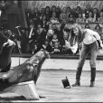 Jane Birkin en 1974 lors du Gala de l'Union des artistes.
