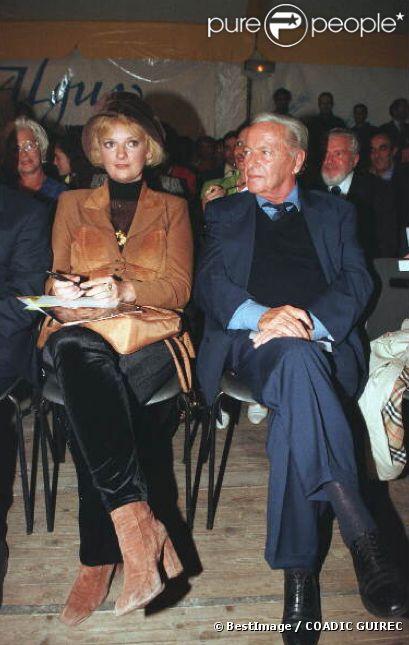Muriel Montossey et Guy Lux en octobre 1997