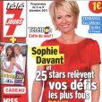 Sophie Davant en couverture de  Télé 7 Jours , en kiosques le 28 novembre 2011.