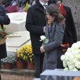 Mazarine Pingeot lors des funérailles de Danielle Mitterrand à Cluny le 26 novembre 2011