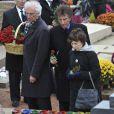 Jack Lang lors des funérailles de Danielle Mitterrand à Cluny le 26 novembre 2011