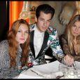 Joséphine de la Baume, Mark Ronson et Sienna Miller lors de la soirée du 135e anniversaire de la maison Lancel à Paris le 24 novembre 2011