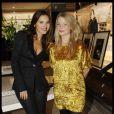Virginie Ledoyen et Mélanie Thierry lors de la soirée du 135e anniversaire de la maison Lancel à Paris le 24 novembre 2011