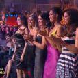 Cinq ex-Miss sont présentes : Rachel Legrain-Trapani, Alexandra Rosenfeld, Valérie Bègue, Cindy Fabre et Malika Ménard (de gauche à droite).
