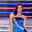 Miss Bourgogne défile lors du tableau Gilda, élection Miss France 2012, samedi 3 décembre 2011, sur TF1