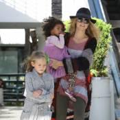 Heidi Klum avec ses 2 princesses Leni et Lou pour une séance shopping craquante