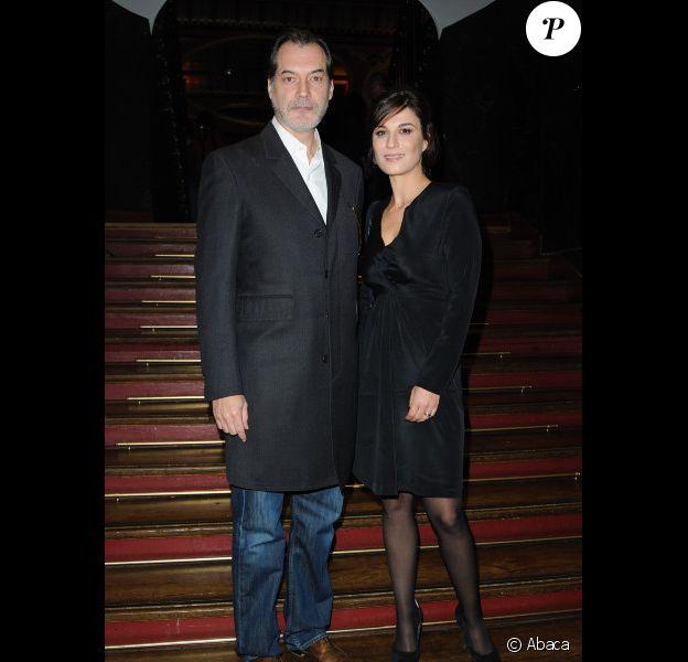 Helene Medigue et Samuel Labarthe lors de la soirée 'Prix Du Producteur Français De Télévision' à Paris, le 5 décembre 2011
