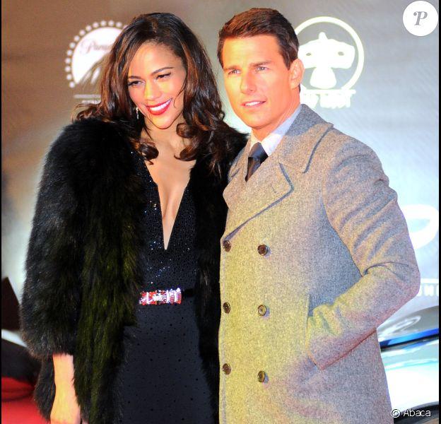 Tom Cruise et Paula Patton à Moscou, le 8 décembre 2011 présentent Mission : Impossible - Protocole Fantôme.
