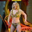 Britney Spears lors de son concert à Porto Rico, dernière date de sa tournée Femme Fatale, le 10 décembre 2011