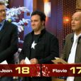 Le jury : Sébastien Demorand, Yves Camdeborde et Frédéric Anton dans Masterchef Junior sur TF1 le vendredi 23 décembre 2011