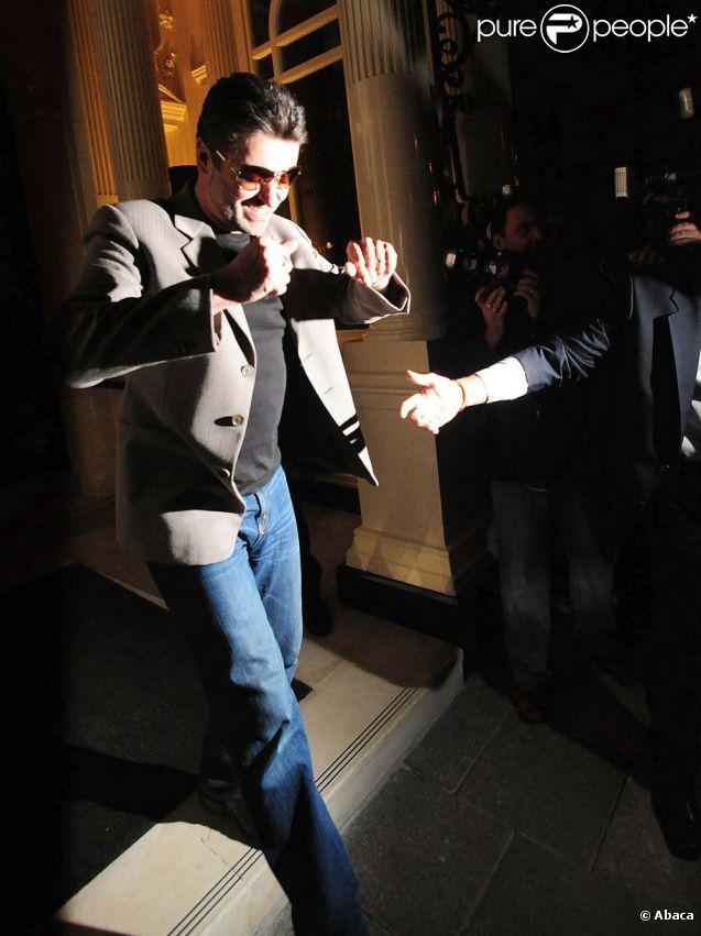 George Michael à Londres, le 23 avril 2008.