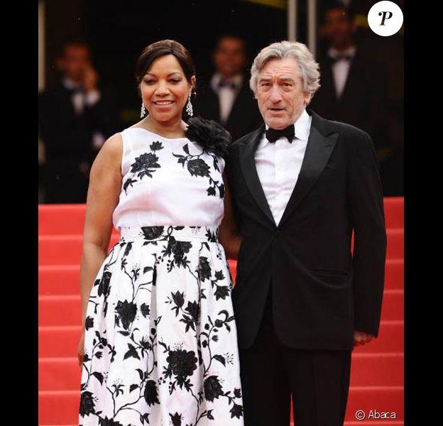 Robert de Niro et sa femme Grace Hightower sur les marches du festival de Cannes en mai 2011