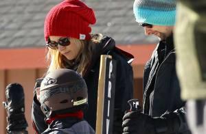 Kate Hudson, avec son fils et son chéri Matt Bellamy, élimine sur les pistes
