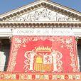 Le roi Juan Carlos Ier d'Espagne inaugurait le 10e mandat parlementaire de la démocratie espagnole, le 27 décembre 2011 au Parlement, à Madrid, entouré de son épouse la reine Sofia, du prince Felipe et de sa Letizia.
