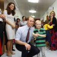 Kate Middleton lors d'une visite au Royal Marsden Hospital avec le prince William en septembre 2011.   Les premiers patronages de la Catherine, duchesse de Cambridge, ont été officiellement annoncés le 5 janvier 2012. L'épouse du prince William est la marraine de quatre associations, et par ailleurs bénévole auprès de l'Association des Scouts.